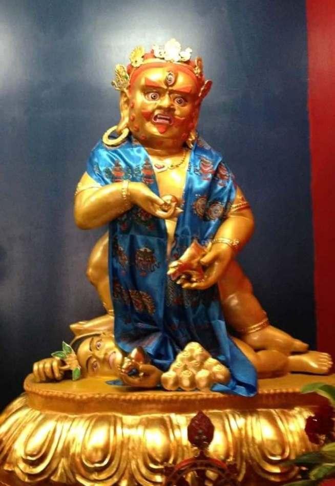 台中直貢寶積林西藏五路財神寺 黑財神 五方佛