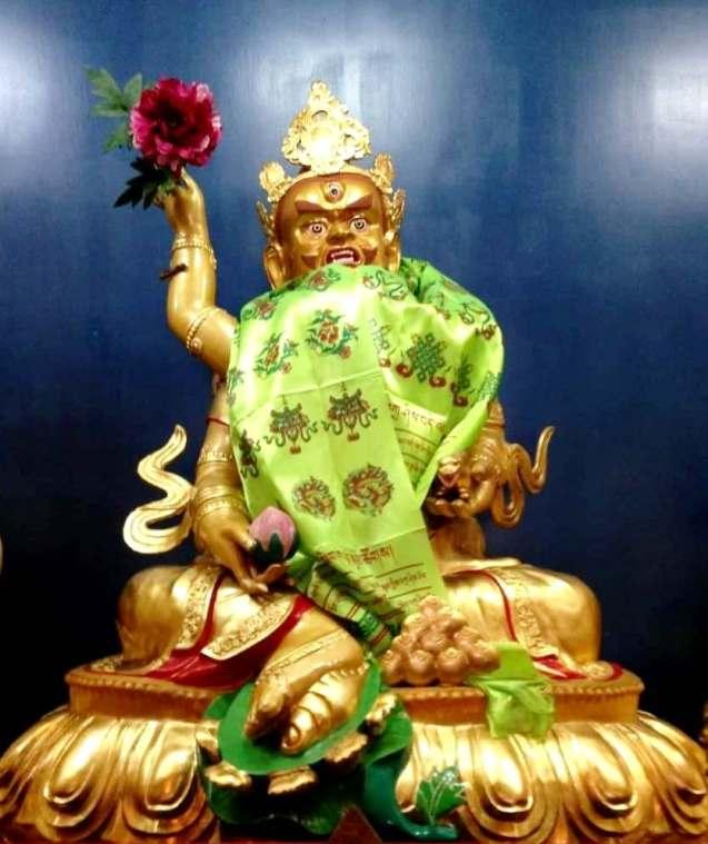 台中直貢寶積林西藏五路財神寺 綠財神 五方佛
