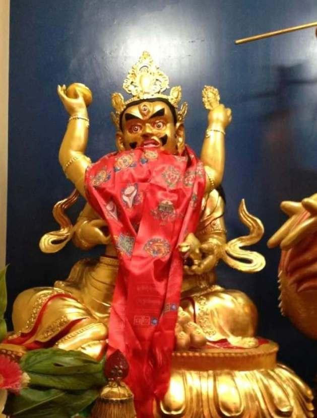 台中直貢寶積林西藏五路財神寺 紅財神 五方佛